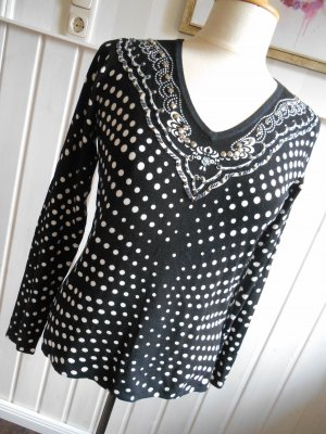 Milano Design Pullover Pulli schwarz - weiß