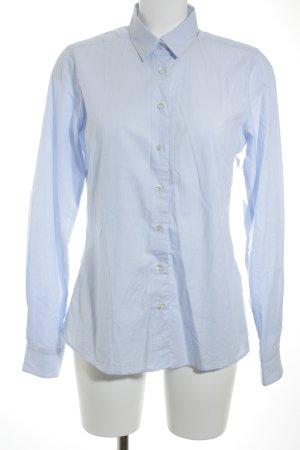 Milano Hemd-Bluse blau-weiß Streifenmuster Business-Look