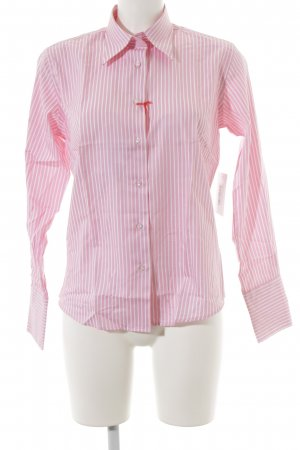 Milano Hemd-Bluse weiß-rosa Streifenmuster Business-Look