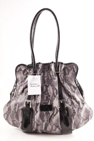 Milano Sac Baril noir-gris clair imprimé reptile