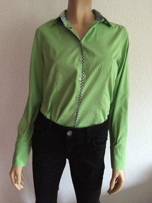 Milano Italy Donna Bluse Gr. 38 Grün grüne langarm Langarmbluse langärmlig