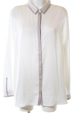 Milano Italy Langarm-Bluse creme-braun Elegant