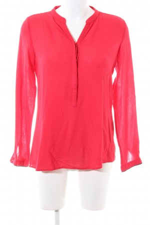 Milano Italy Langarm-Bluse rot Business-Look