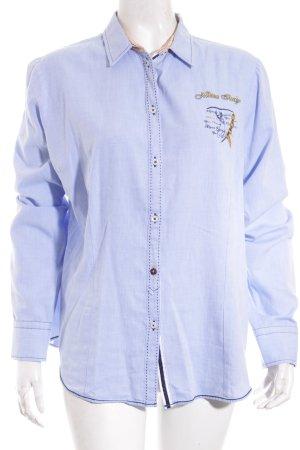 Milano Italy Chemise à manches longues bleu clair style décontracté