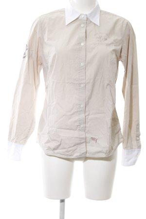 Milano Italy Langarmhemd wollweiß-weiß Motivdruck Casual-Look