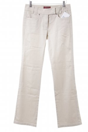 Milano Italy Stoffhose creme Casual-Look