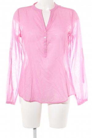Milano Italy Transparenz-Bluse pink Casual-Look