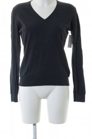 Milano Italy V-Ausschnitt-Pullover anthrazit Casual-Look