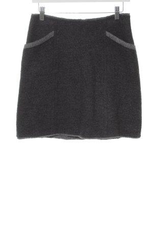 Milano Italy Gonna di lana antracite-grigio puntinato stile casual