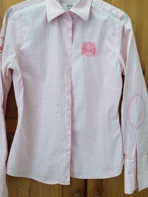 Milano Karo Bluse rosa/ Weiß