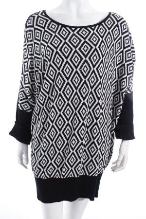 Milano Strickpullover weiß-schwarz Casual-Look