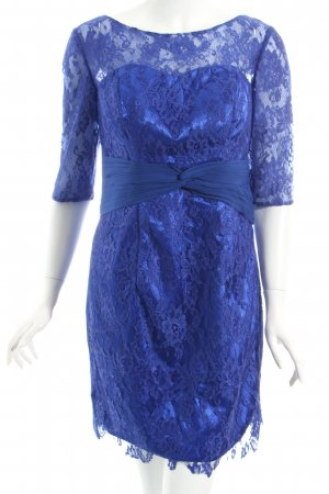 Milanoo Spitzenkleid blau Party-Look