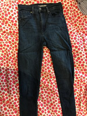 Mile High Superskinny dunkelblaue Jeans von Levi's