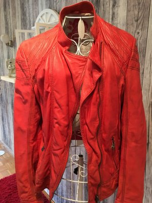 Milestone Leather Jacket red