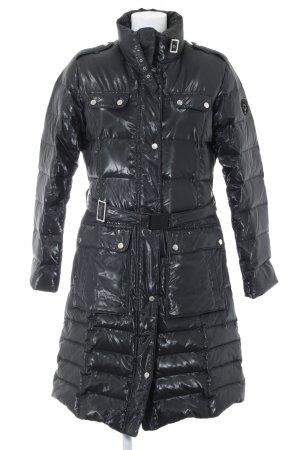 Milestone Abrigo de plumón negro estampado acolchado look casual