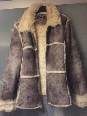 Milestone Jacke in Schaffelloptik Fake Fur Gr.42 grau
