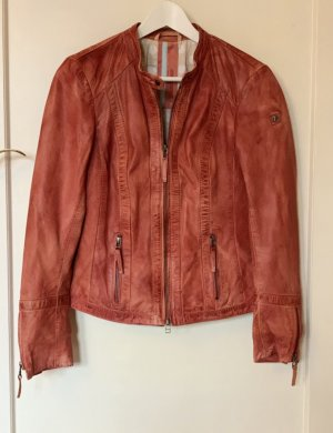 Milestone Leather Jacket bright red-red