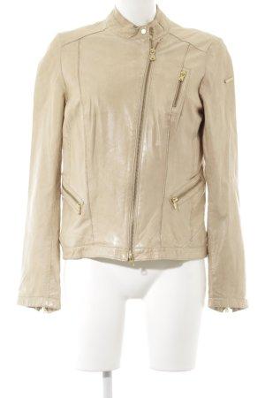Milestone Lederjacke beige Casual-Look
