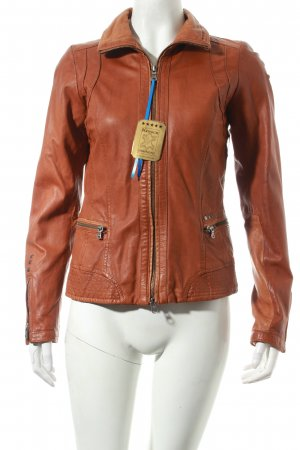 Milestone Lederjacke cognac Street-Fashion-Look
