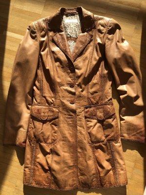 Milestone Leather Jacket cognac-coloured-brown