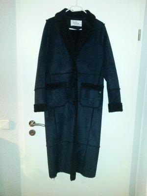 Milestone Cappotto invernale blu scuro-nero Finta pelle