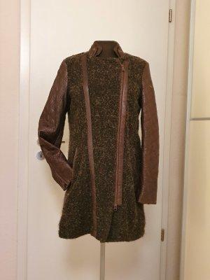 Milestone Manteau en cuir bronze cuir