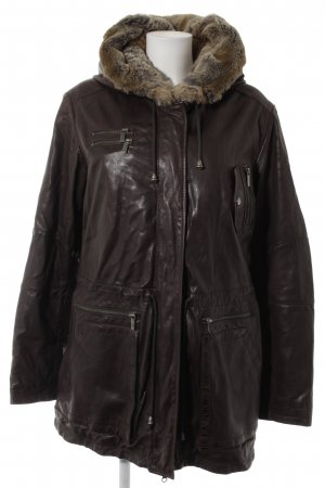 Milestone Parka marrone scuro soffice