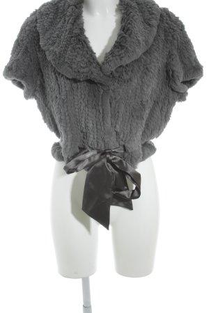 Milestone Giacca in pelliccia grigio elegante
