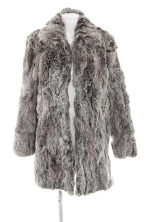 Milestone Abrigo de piel gris-gris claro degradado de color estilo extravagante