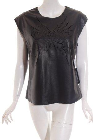 Milestone Top schwarz abstraktes Muster schlichter Stil