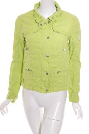 Milestone Übergangsjacke grasgrün-silberfarben Casual-Look
