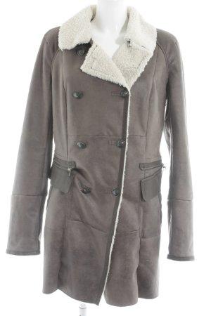 Milestone Cappotto invernale marrone-grigio stile casual