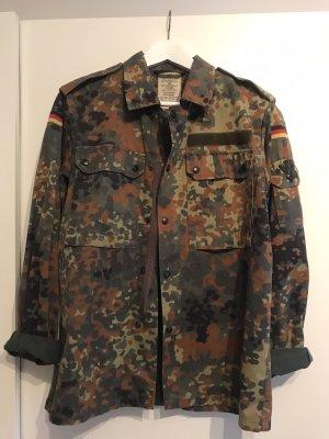 Chaqueta militar caqui-marrón