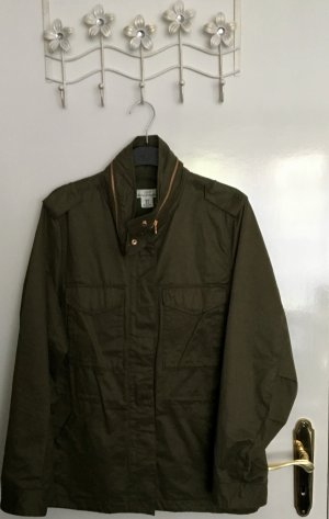H&M L.O.G.G. Military Jacket green grey cotton