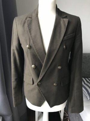 Bershka Military Jacket bronze-colored-dark green