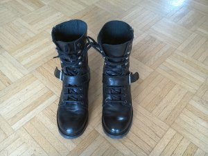 Bertie Boots black leather