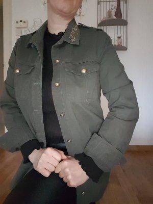 Zara Chemise doré-vert forêt