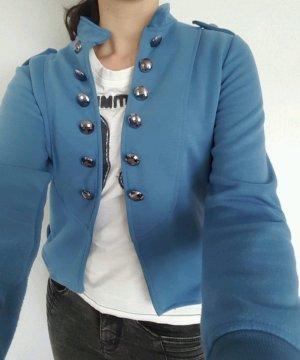Veste militaire gris anthracite-bleuet