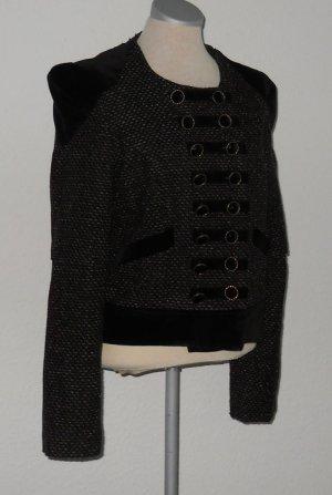 Military Jacke Blazer schwarz grau Gr. 38 gothic