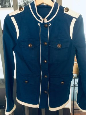 Boden Military Jacket blue cotton