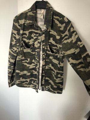 Militair jack groen-grijs-khaki