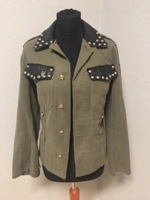 Military Jacket green grey cotton