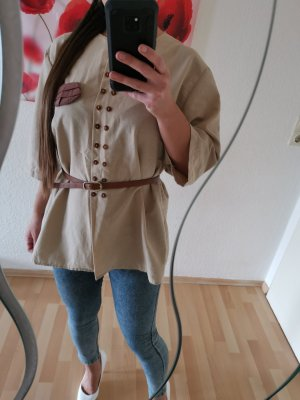 Oversized Blouse grey brown