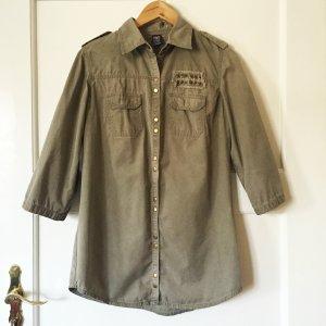 Military style oversized Hemd von Zara