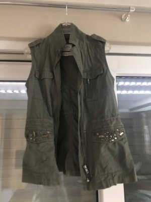 C&A Biker Vest green grey-khaki