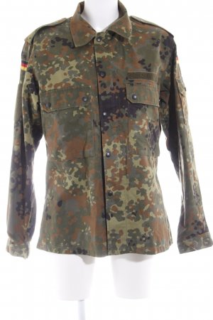 Militair jack camouflageprint militaire uitstraling