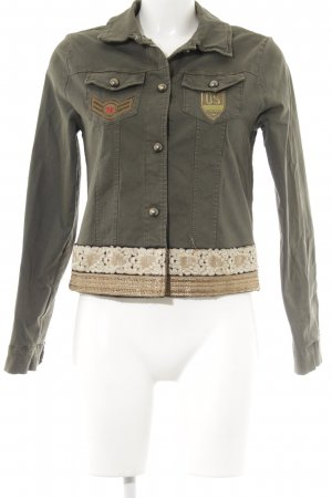 Military Jacket floral pattern Boho look