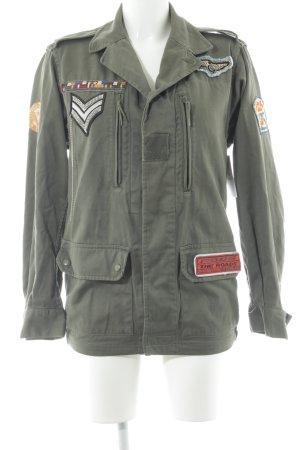 Militaryjacke khaki-schwarz Casual-Look