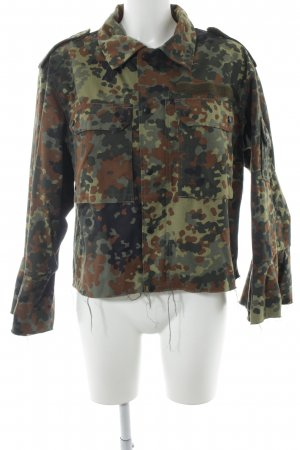 Milk.it Militair jack camouflageprint militaire uitstraling