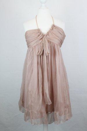 Milla Jovovich for Mango Kleid Seidenkleid Gr. S apricot, Schulterfrei (18/4/362)
